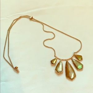 Kendra Scott rose gold statement necklace